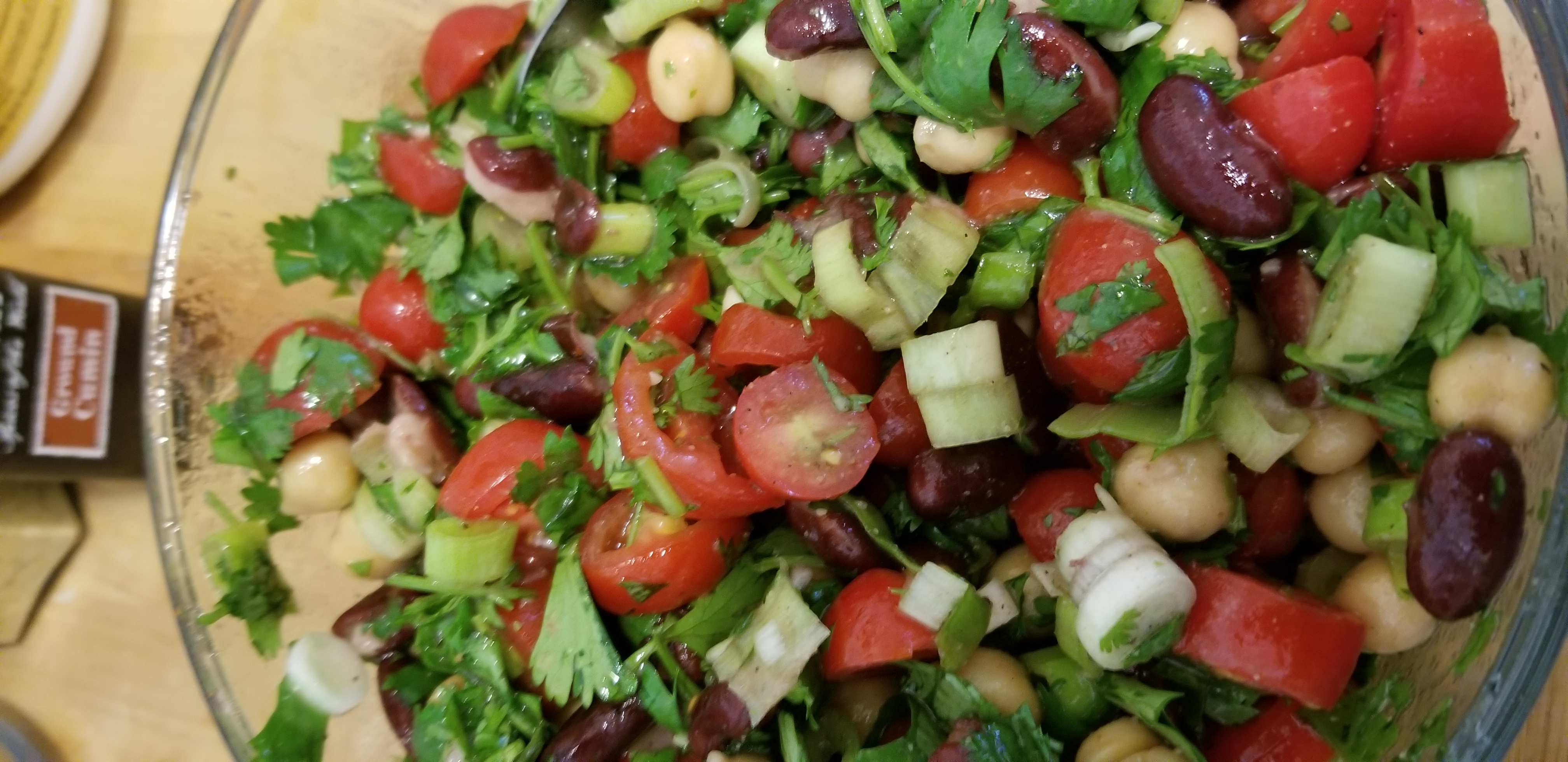 Cold bean salad