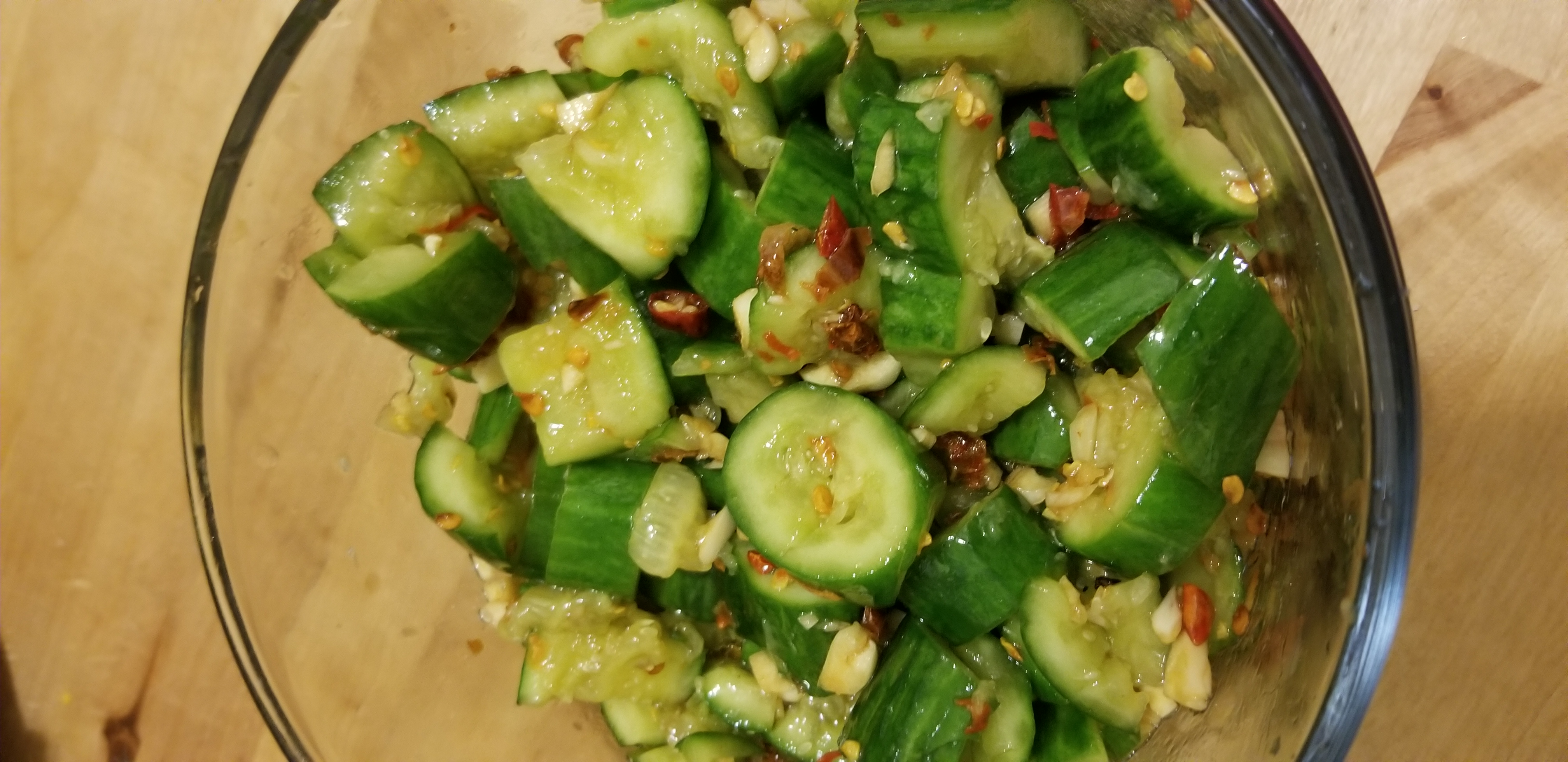 Saucy cucumber side-salad*